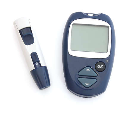 medical sample: Glucose meter and a punch for the diagnosis of glucose