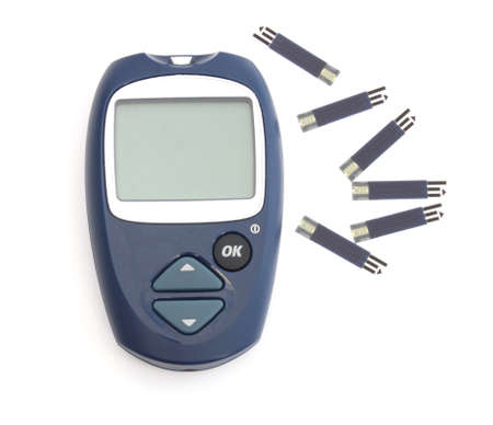 diagnosing: Device for diagnosing the level of sugar in the blood and the test strips