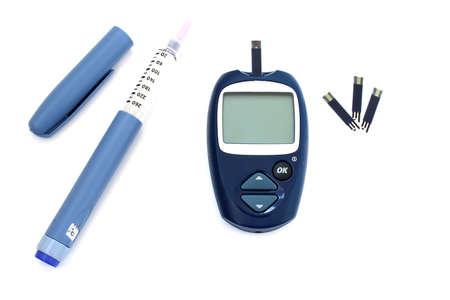 diabetes meter kit: Diabetic kit:  syringe pen with insulin and glucometer