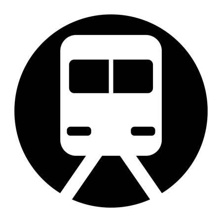Station, Train Black Icon Vector  イラスト・ベクター素材