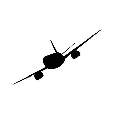 Airplane Icon Black Vector Vettoriali
