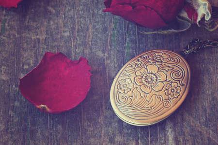 medallion: antique vintage locket
