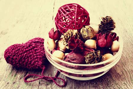 bolsita: bolsita de aroma en el estilo vintage Foto de archivo