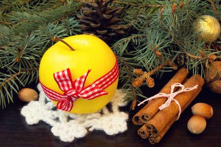 christmas apple: giallo mela e cannella Natale