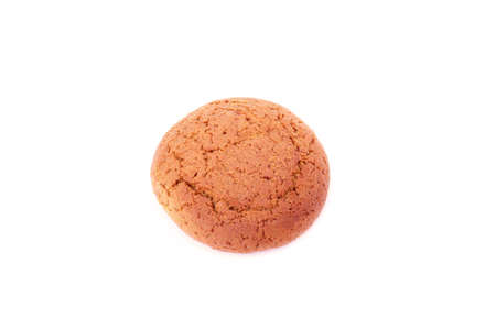 oatmeal cookie isolated on a white background  photo