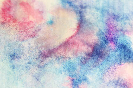 sloppy: Blue and pink watercolor stains  Stock Photo