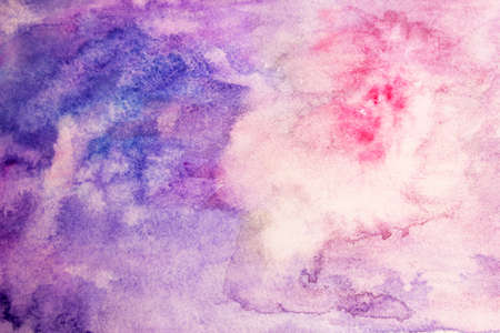 blotches: Pink, purple and blue watercolor blotches