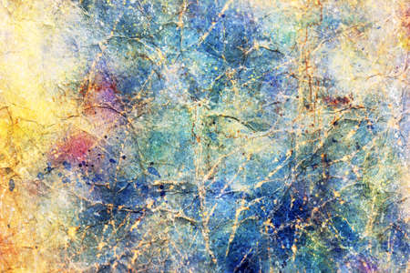 Grunge dingy scratched blue paper texture  Art background  photo