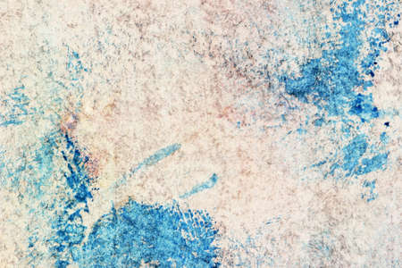 blotches: old dirty grunge paper with blue blotches