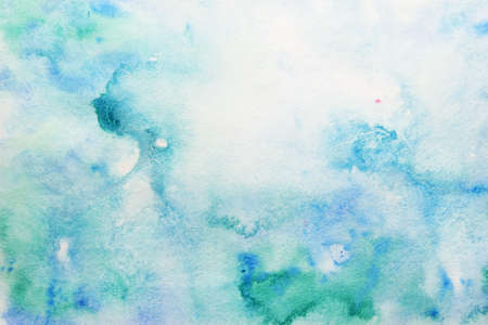 smudges of beautiful turquoise watercolor  Standard-Bild