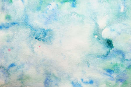 watercolor turquoise swirls and blots  photo