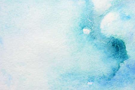 dark pastel green: abstract watercolor blue blots  Stock Photo