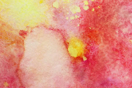 smudges: red smudges and yellow watercolor splashes