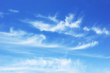 summer blue sky with clouds  photo
