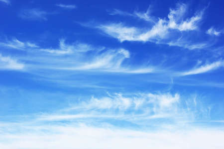 bright blue summer sky with clouds  photo