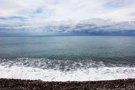 seascape in cloudy weather  photo