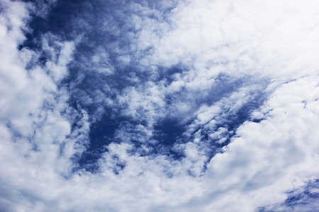 deep blue sky background with clouds  photo