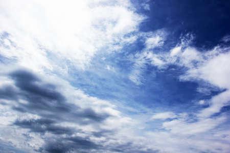 dark clouds on a blue sky  photo