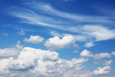 fluffy clouds  photo