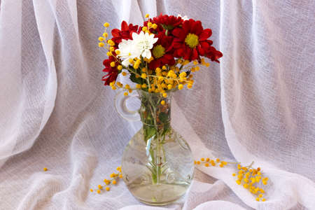 trembling: bouquet of beautiful flowers in vase