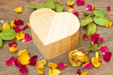 Box with a gift for Valentine s Day  photo