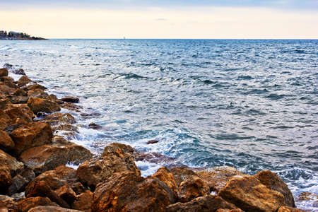 haifa: rocky beach, Haifa, Israel