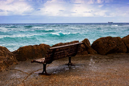 seafront: seafront, Haifa, Israel Stock Photo