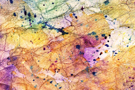 messy: messy crumpled watercolor paper Stock Photo