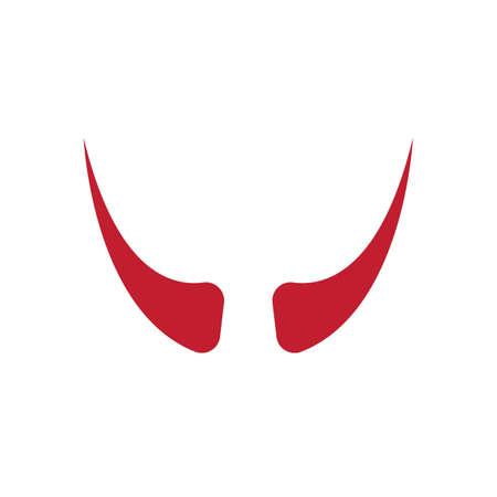 Devil horn Vector icon design illustration logo Template