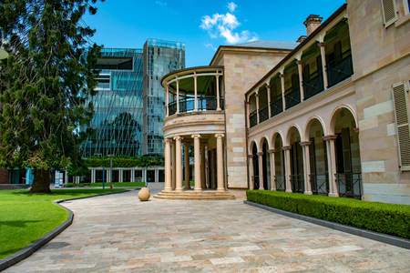 The Queensland University of Technology campus is an interesting mix of modern and historical buildings