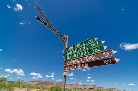 Wittenoom, Pilbara, Australie occidentale - la ville déserte ne figure sur aucune carte pour décourager les visiteurs de rencontrer l'amiante bleu mortel dans la région Banque d'images