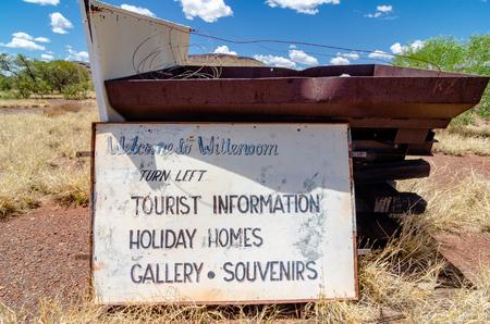 Wittenoom, Pilbara, Australie occidentale - la ville déserte ne figure sur aucune carte pour décourager les visiteurs de rencontrer l'amiante bleu mortel dans la région