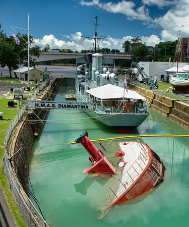 The ship Carpentaria despite being in a dry dock suffered a capsize when the city of Brisbane flooded in 2010-11