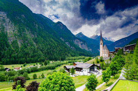 A beautiful church matches amazing scenery at Heiligenblut, Austria