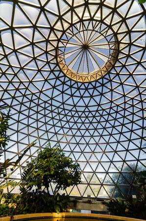 An unsual view of the Brisbane Botanic Gardens glasshouse roof Sajtókép