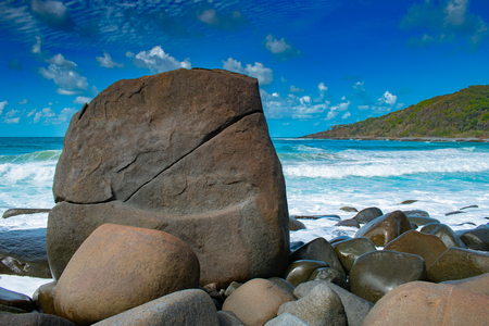 Granite Bay in Noosa National Park has an impressive array of boulders and rocks, many of them made of granite.