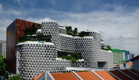 A modern looking officeshopping centre in Singapore