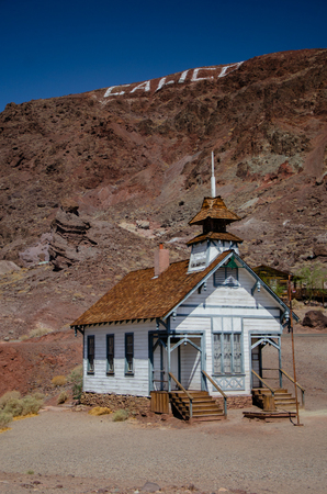 Calico is a former silver mining town which is now a ghost town. Here is the old schoolhouse of the town