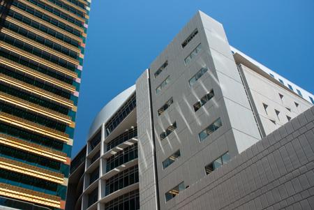 Brisbane CBD high rises against a clear blue sky