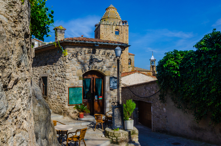 Trujillo, Spain contains many medieval and renaissance buildings, La Sonata Restuarant being just one of them