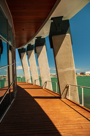 Strong engineering and modern architecture reflects the history of the maritime industry here at the WA Maritime Museum