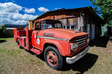 An old Dodge truck used as a fire truck for the Rural Fire Brigade still looking good in the Caboolture Historic Village Sajtókép