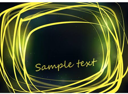 Yellow bright strokes forming an abstract frame on a dark background Stock Vector - 15442245
