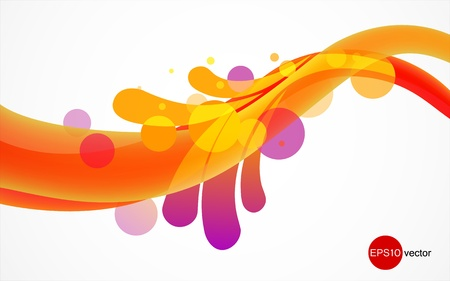 Colorful liquid splash, Abstract eps10 vector background.