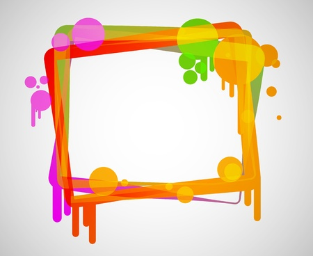 colorful abstract frame Stock Vector - 15442107