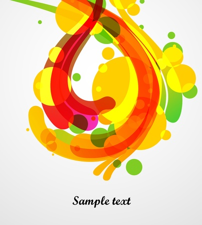 colorful splashes, abstract background Stock Vector - 15442114