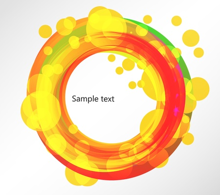Abstract dynamic colorful round frame Stock Vector - 15442214
