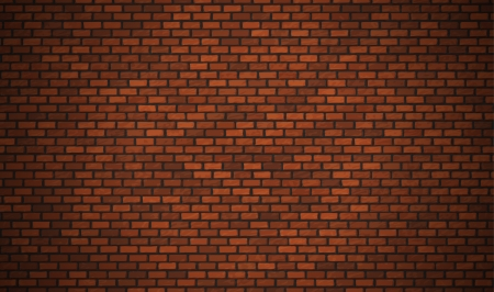 old brick wall: Vector realistic red brick wall Illustration