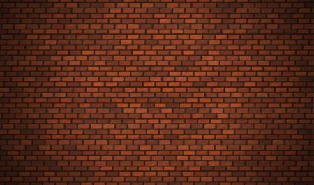 Vector realistische rode bakstenen muur Vector Illustratie