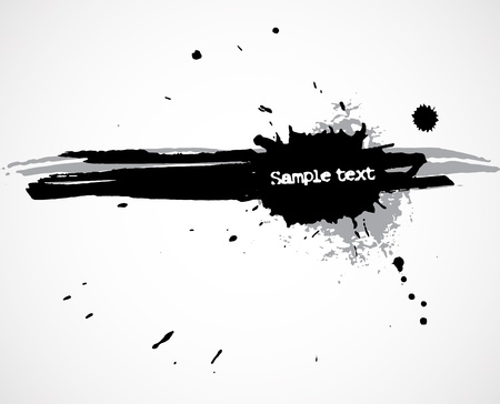 Grunge background with ink blots and stains